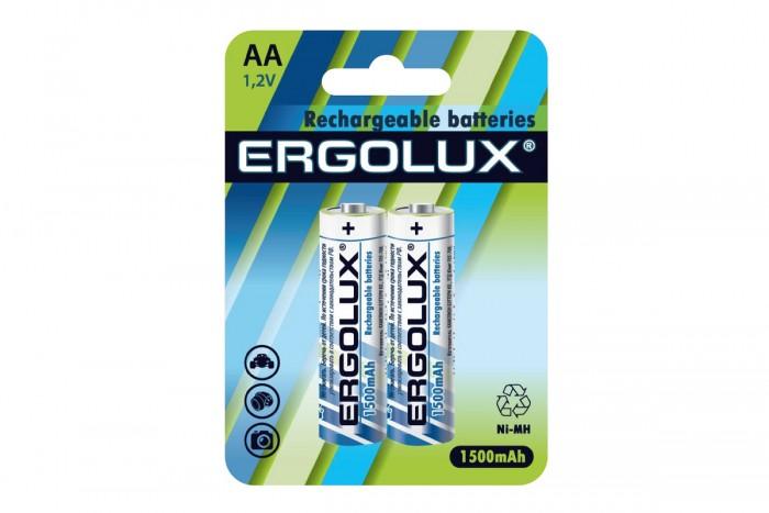Батарейки, удлинители и переходники Ergolux Аккумулятор AA-1500mAh Ni-Mh BL-2