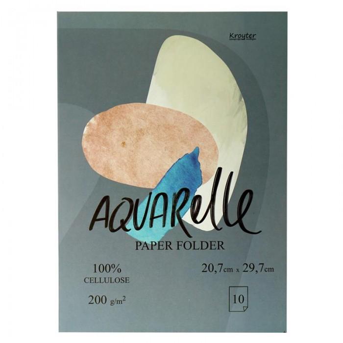 Принадлежности для рисования Kroyter Папка для рисования акварелью Проф А4 10 листов де винтон харриет botanical painting вдохновляющий курс рисования акварелью