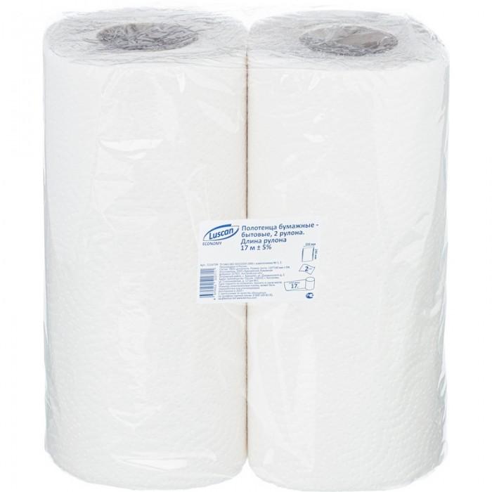 Хозяйственные товары Luscan Economy Полотенца бумажные 2-х слойные 2 шт. пакеты бумажные lefard 73 545 23 х 18 х 9 см 10 шт