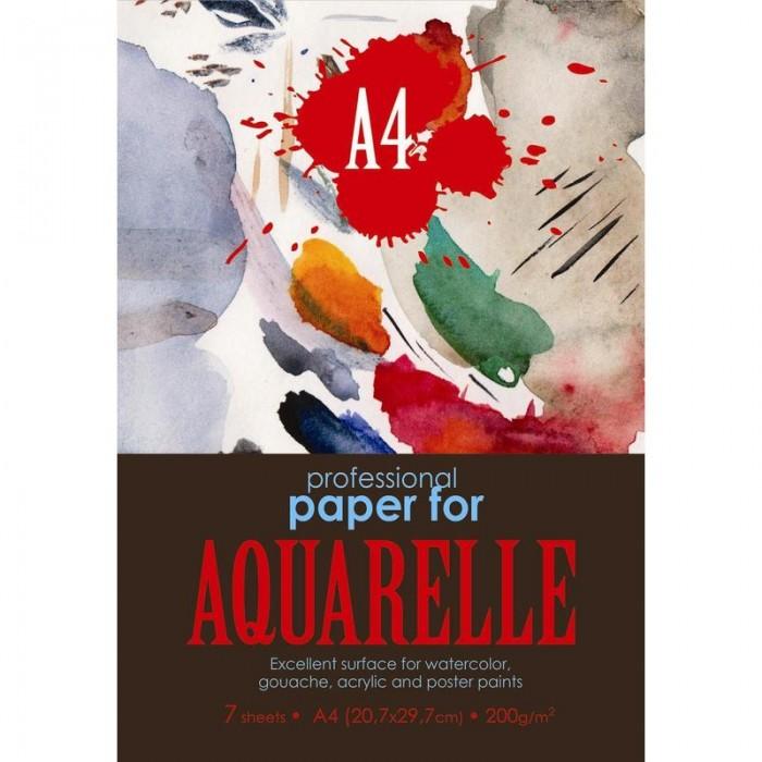 Принадлежности для рисования Kroyter Папка для рисования акварелью Aquarelle А4 7 листов де винтон харриет botanical painting вдохновляющий курс рисования акварелью