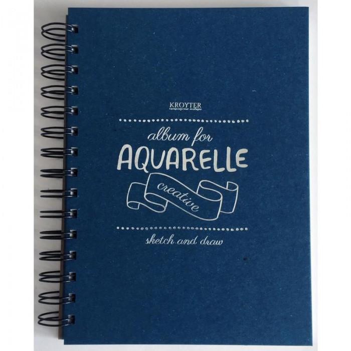 Канцелярия Kroyter Скетчбук для акварели А5 35 листов мир акварели