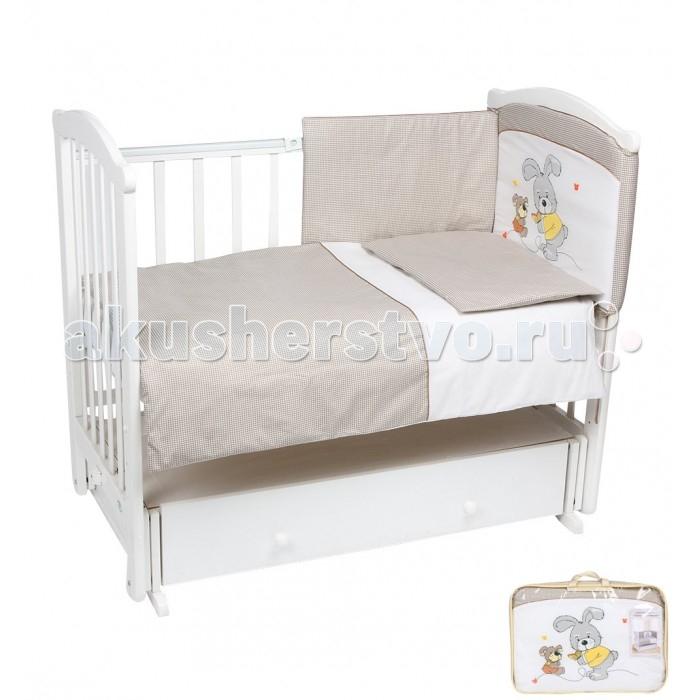 Комплект в кроватку Leader Kids Заяц с собачкой (7 предметов)