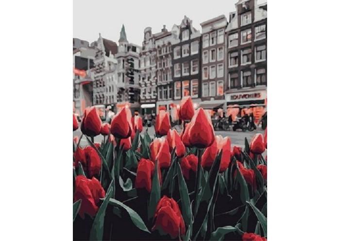 Картины по номерам Paintboy Картина по номерам Любуясь тюльпанами