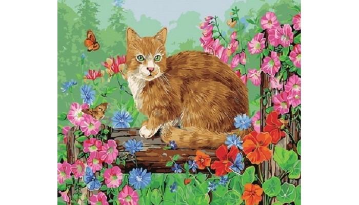 Купить Картины по номерам, Paintboy Картина по номерам Котик на прогулке