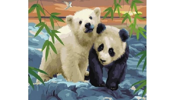 Картины по номерам Paintboy Картина по номерам В гостях у панды картина картины в квартиру carolina parrot 1841г бумага