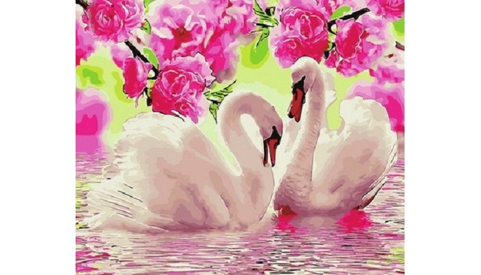 Купить Картины по номерам, Paintboy Картина по номерам Два лебедя