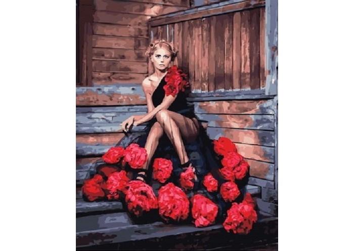 Картины по номерам Paintboy Картина по номерам Красота роз