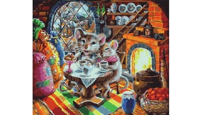 Купить Картины по номерам, Paintboy Картина по номерам Мышкин уют