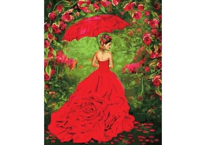 Фото - Картины по номерам Paintboy Картина по номерам Дама в красном картины по номерам paintboy картина по номерам веселый ангелок
