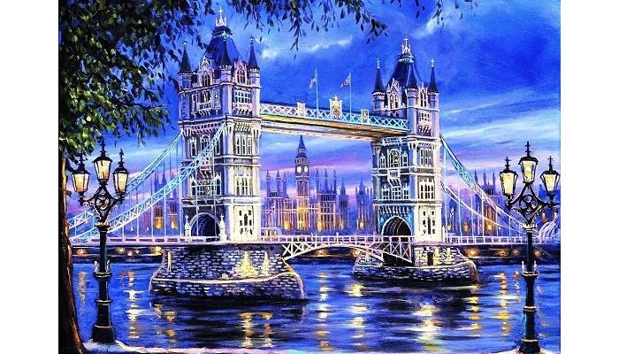 Картины по номерам Paintboy Картина по номерам Мост через реку