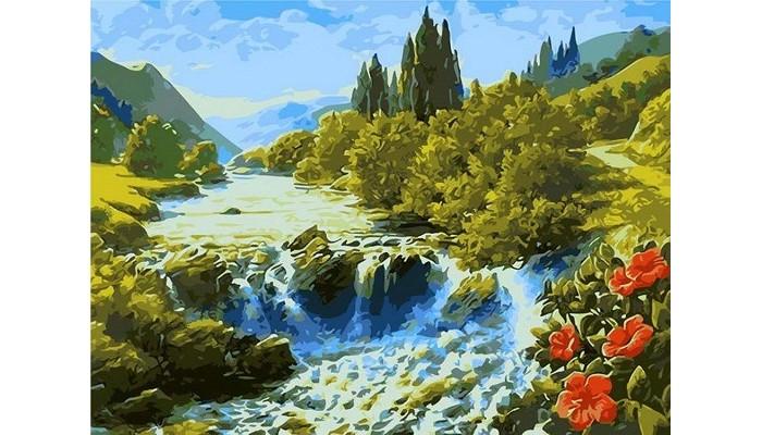 Картины по номерам Paintboy Картина по номерам Водопад в долине картина картины в квартиру carolina parrot 1841г бумага