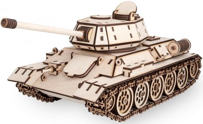 Конструктор Eco Wood Art деревянный 3D EWA Танк T-34