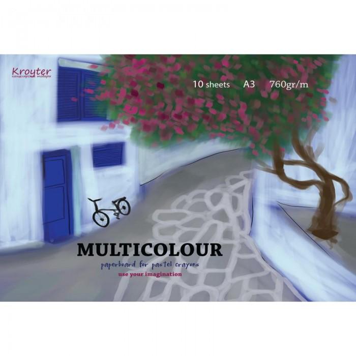 Принадлежности для рисования Kroyter Альбом акварели Multicolour А3 10 листов