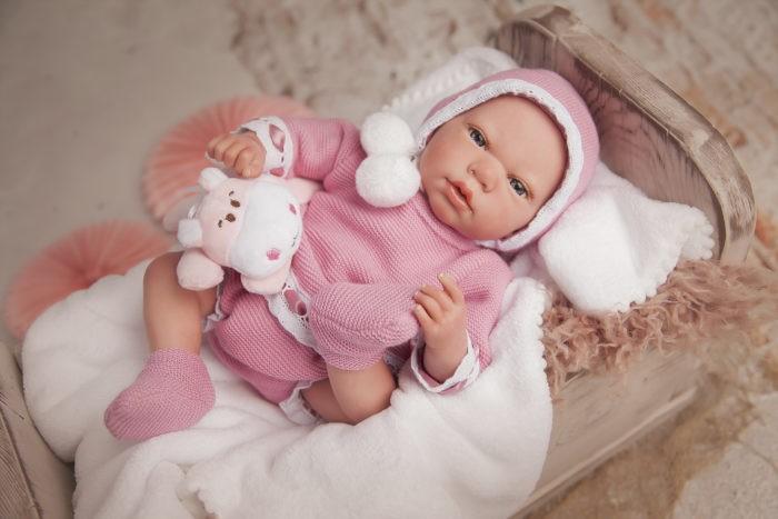 Купить Куклы и одежда для кукол, Arias ReBorns Новорождённый пупс Elina 40 см