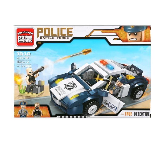 Конструкторы Enlighten Brick Машина Полиция с фигурками и аксессуарами (303 детали) конструкторы enlighten brick полицейская машина с фигурками 190 деталей