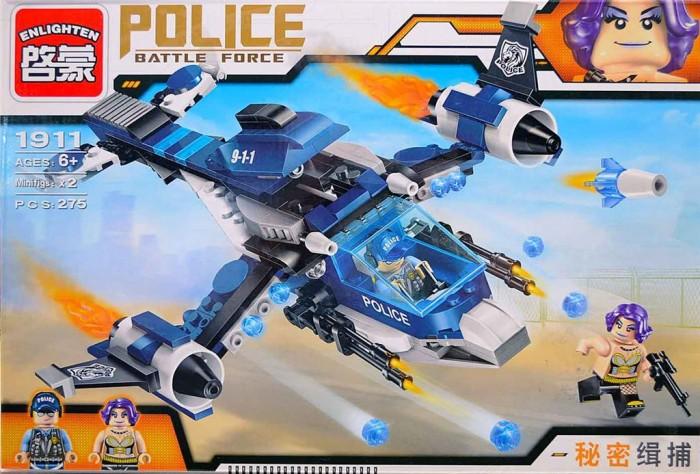 Конструкторы Enlighten Brick Самолёт Полиция с фигурками (275 деталей) конструкторы enlighten brick полицейская машина с фигурками 190 деталей