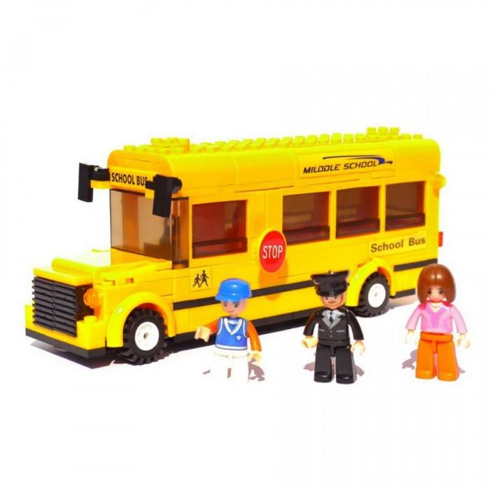 Картинка для Конструкторы Sluban Школьный автобус (219 деталей)