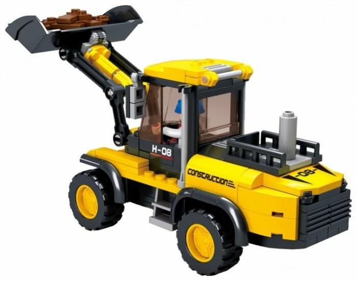 Картинка для Конструкторы Sluban Трактор-погрузчик (212 деталей)
