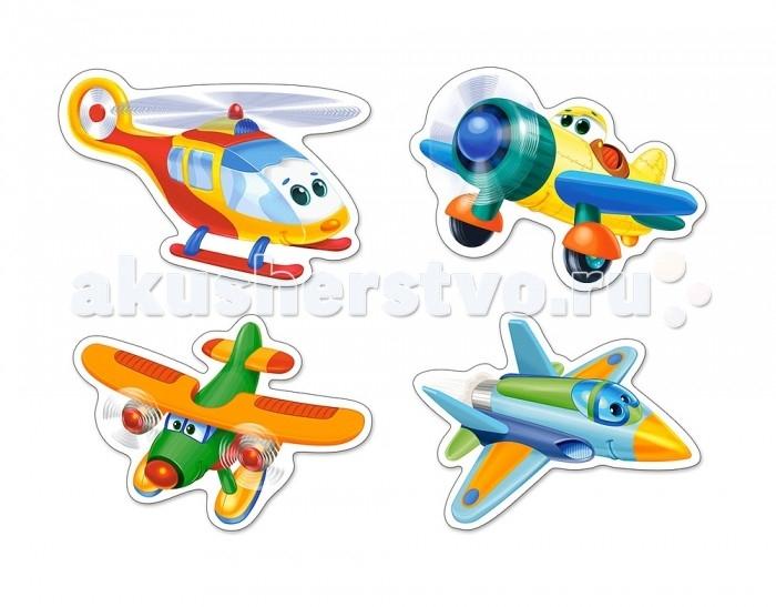 Пазлы Castorland Пазлы 4 в 1 Смешные самолеты пазлы castorland пазл 4 в 1 девочка и лошадь 180 элементов