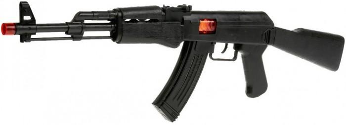 Игрушечное оружие Играем вместе Автомат-трещетка AK47 60х20 см игрушечное оружие играем вместе автомат игрушечный м 16