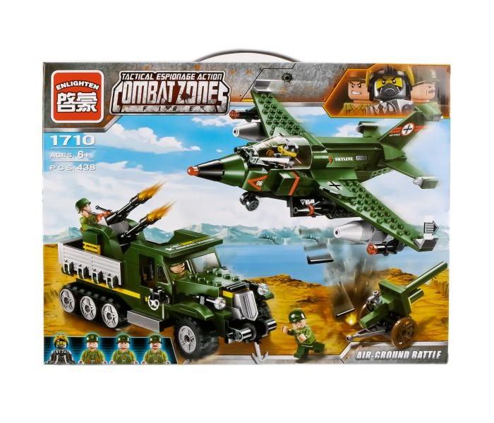 Конструкторы, Конструктор Enlighten Brick Самолёт и военная машина с фигурками (438 деталей)  - купить со скидкой