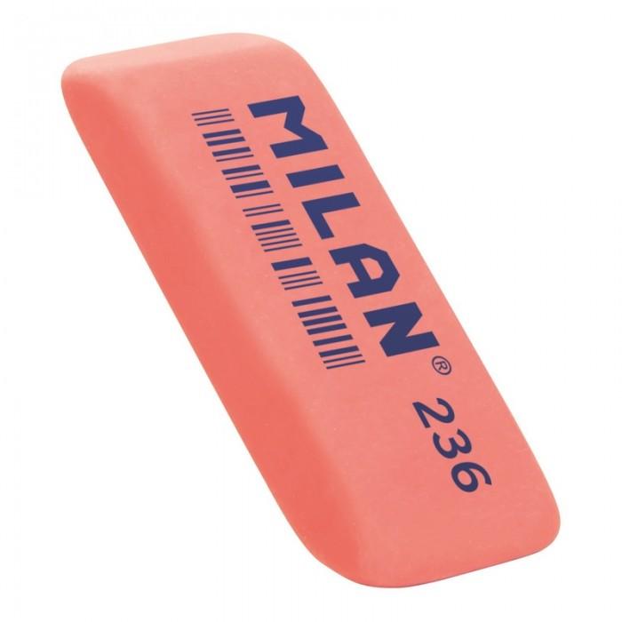 Канцелярия Milan Ластик пластиковый скошенной формы флюоресцентный 236