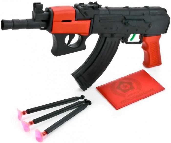Игрушечное оружие Играем вместе Автомат-трещетка с присосками игрушечное оружие играем вместе автомат игрушечный м 16
