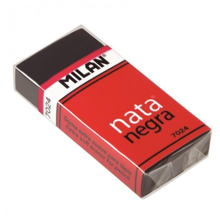 Канцелярия Milan Ластик пластиковый мягкий с картонным держателем 7024