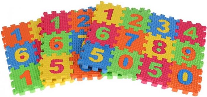 Игровые коврики Играем вместе мини Любимые герои с цифрами (36 деталей)