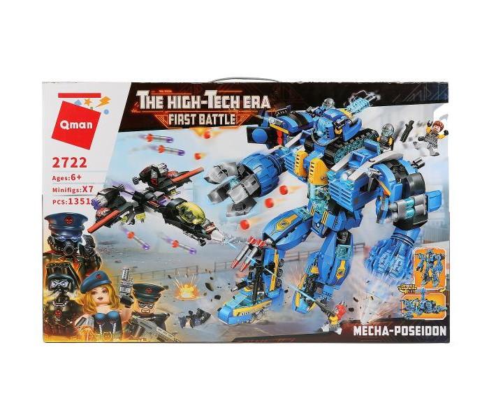 Конструкторы Enlighten Brick Робот с кораблем и фигурками (1414 деталей) конструкторы enlighten brick полицейская машина с фигурками 190 деталей