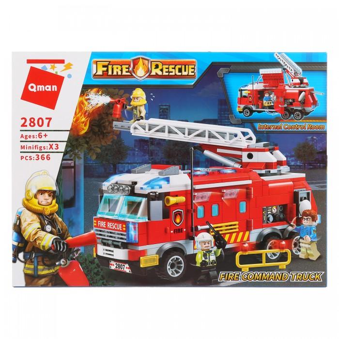 Конструкторы Enlighten Brick Пожарная машина с фигурками (366 деталей)