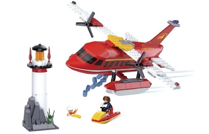 Купить Конструкторы, Конструктор Sluban Пожарный вертолет (348 деталей)