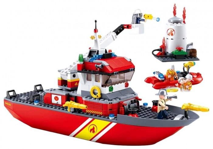 Картинка для Конструкторы Sluban Пожарный корабль (429 деталей)