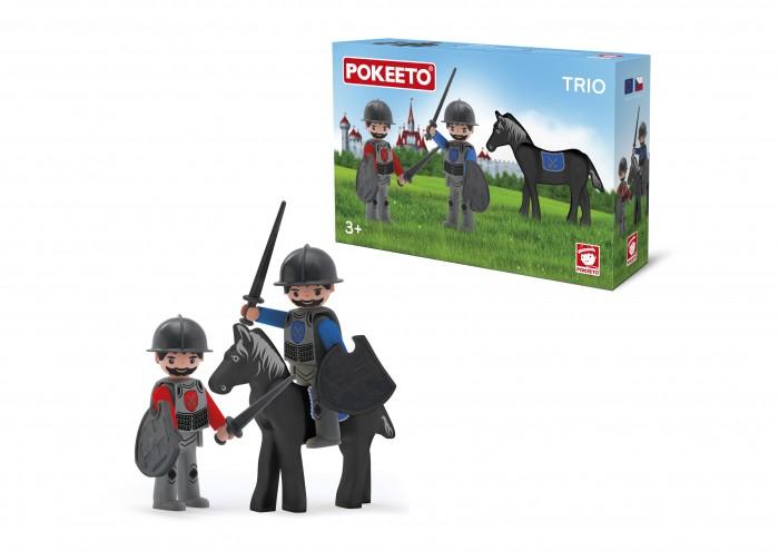 Игровые наборы Efko Два рыцаря и конь 8 см конь