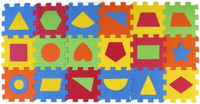 Игровые коврики Играем вместе мини Любимые герои с фигурами (18 элементов)