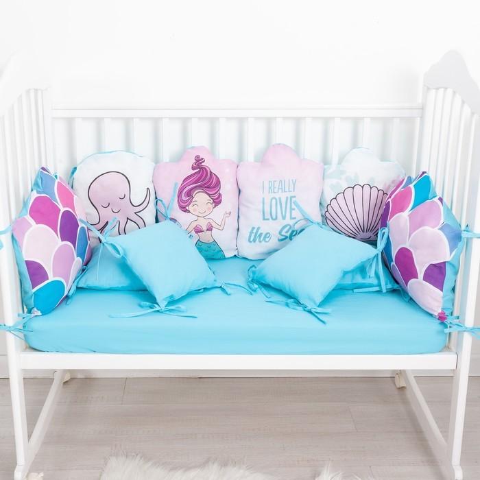 Бортики в кроватку Крошка Я Набор Really mermaid 10 шт.