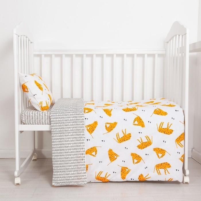 Постельное белье Крошка Я Тигры (3 предмета) постельное белье крошка я принцесса тиффани 3 предмета