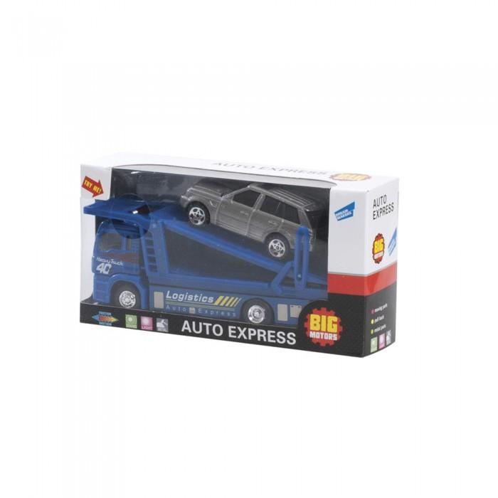 Машины Big Motors Набор игровой Автовоз машины технопарк набор автовоз с машинкой 15 см
