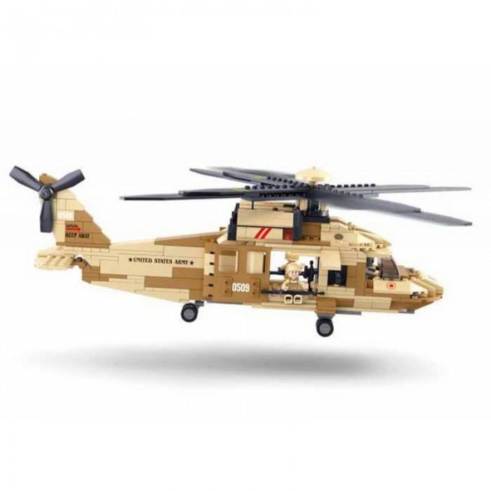Картинка для Конструкторы Sluban Вертолёт (439 деталей)