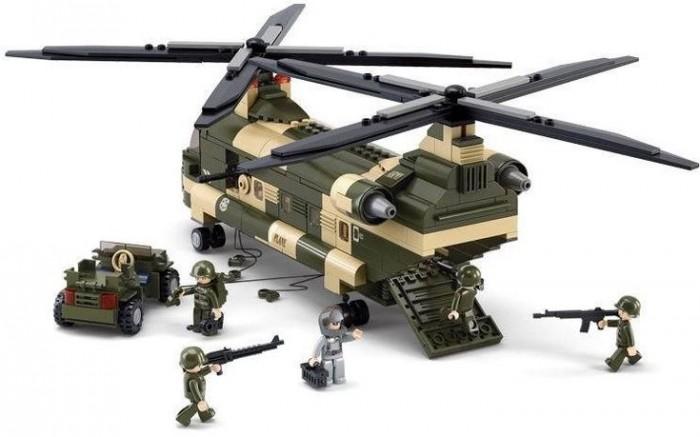 Картинка для Конструкторы Sluban Вертолёт (520 деталей)