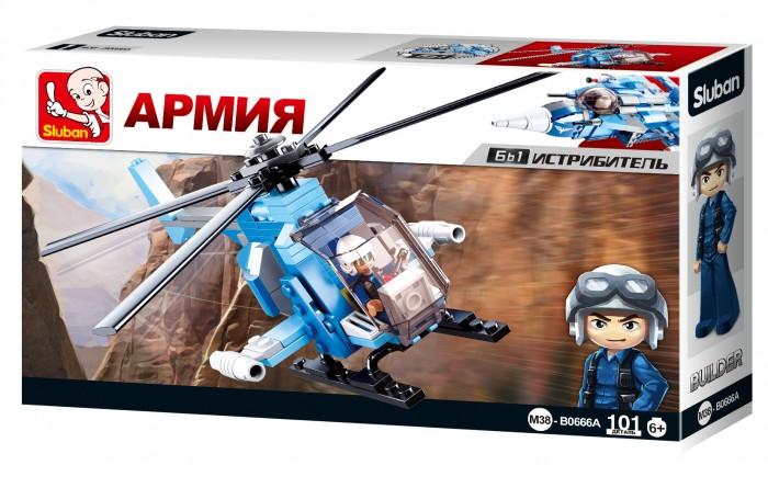 Конструкторы Sluban Армия Вертолет (101 деталь)