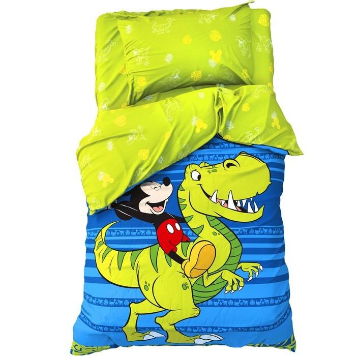 Постельное белье 1.5-спальное Disney 1.5 спальное Jungle Микки Маус (3 предмета) постельное белье 1 5 спальное disney микки маус и его друзья микки и минни 1 5 спальное 3 предмета