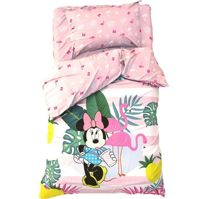 Постельное белье 1.5-спальное Disney 1.5 спальное Spring Palms Минни Маус (3 предмета) постельное белье 1 5 спальное disney микки маус и его друзья микки и минни 1 5 спальное 3 предмета