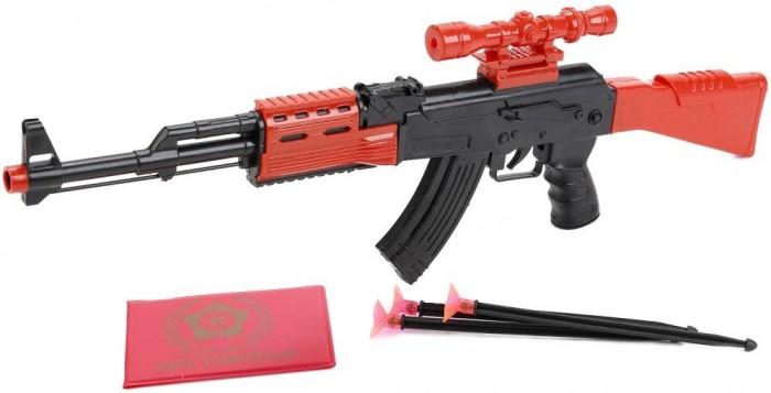 Игрушечное оружие Играем вместе Автомат с пулями на присосках игрушечное оружие играем вместе автомат игрушечный м 16