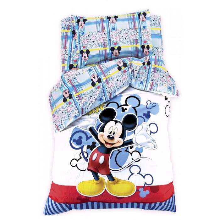 Постельное белье 1.5-спальное Disney 1.5 спальное Микки Маус (3 предмета) постельное белье 1 5 спальное disney микки маус и его друзья микки и минни 1 5 спальное 3 предмета