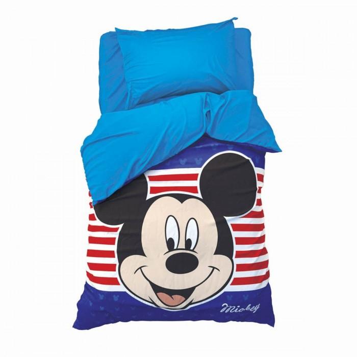 Постельное белье 1.5-спальное Disney 1.5 спальное Микки Маус (3 предмета) 4230704 постельное белье 1 5 спальное disney микки маус и его друзья микки и минни 1 5 спальное 3 предмета