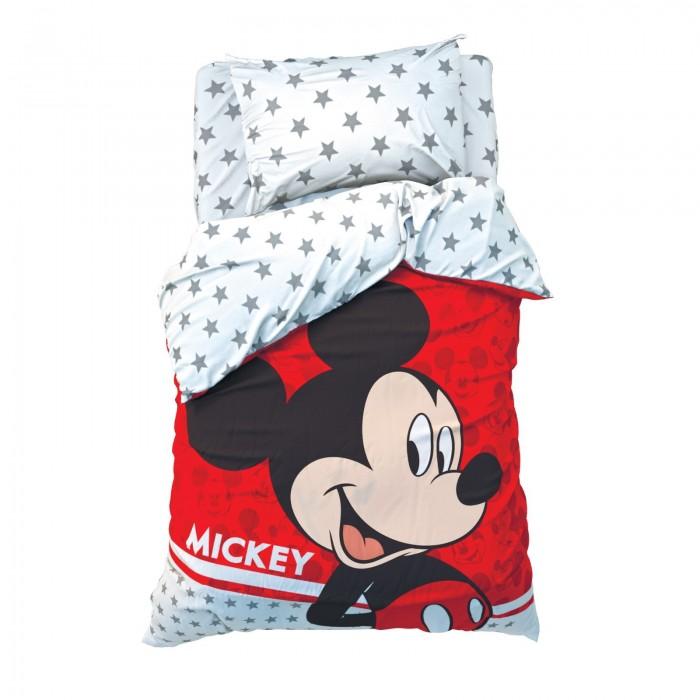 Постельное белье 1.5-спальное Disney 1.5 спальное Микки Маус (3 предмета) 4230705 постельное белье 1 5 спальное disney микки маус и его друзья микки и минни 1 5 спальное 3 предмета