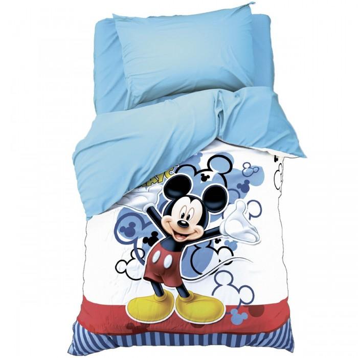 Постельное белье 1.5-спальное Disney 1.5 спальное Микки Маус (3 предмета) 4727795 постельное белье 1 5 спальное disney микки маус и его друзья микки и минни 1 5 спальное 3 предмета