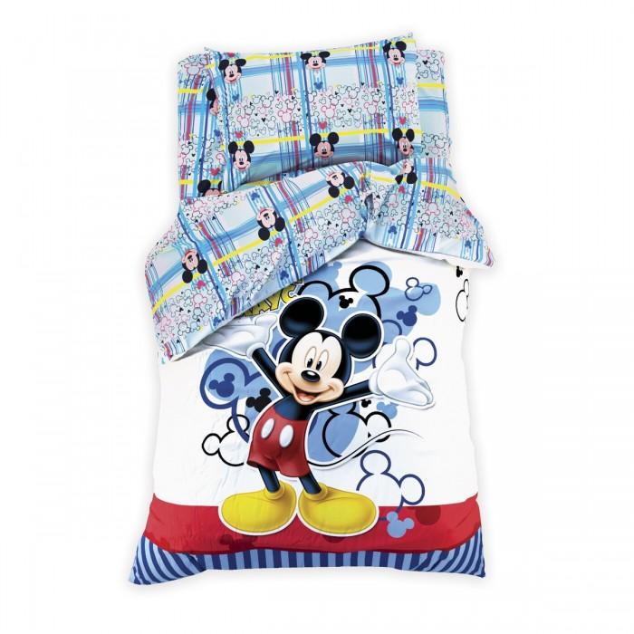 Постельное белье 1.5-спальное Disney 1.5 спальное Микки Маус наволочка 70x70 см (3 предмета) постельное белье 1 5 спальное disney микки маус и его друзья микки и минни 1 5 спальное 3 предмета
