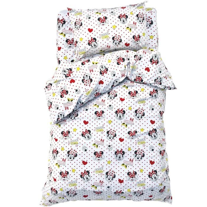 Постельное белье 1.5-спальное Disney 1.5 спальное Модница Минни Маус (3 предмета) постельное белье 1 5 спальное disney микки маус и его друзья микки и минни 1 5 спальное 3 предмета